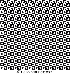 alternato, cerchi, tegole, fori, seamless, nero, trasparente