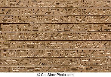 altes , ägypten, scriptures, hintergrund