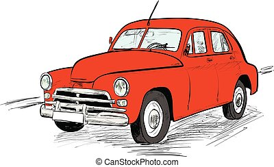 Auto Altes Auto Vektor Altes Abbildung