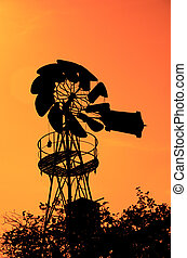 altes , bauernhof, windmühle
