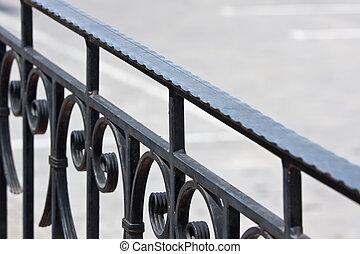 altes , eisen, treppengeländer