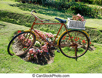 korb altes blumen fahrrad werbung voll fahrrad frame foto werbung leer korb altes. Black Bedroom Furniture Sets. Home Design Ideas