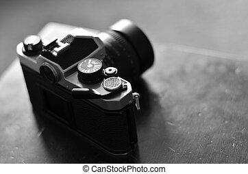 altes , fotoapperat, und, linse, für, photographie