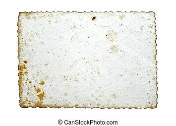 altes , gegenteil, foto, freigestellt, weißes, seite, leerer