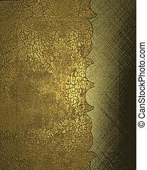 altes , gold, hintergrund, mit, cutout., design, schablone