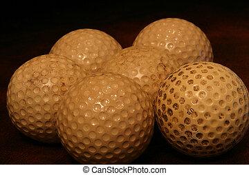 altes , golfbälle