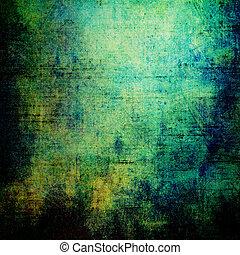 altes , grunge, hintergrund, mit, delikat, abstrakt, beschaffenheit