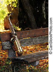 altes , grungy, saxophon