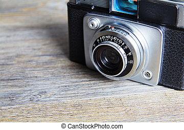 altes , hölzern, alte kamera, retro, hintergrund