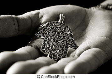 altes , hamsa, hand, amulett, fatima, oder