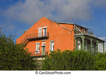 altes haus, in, new orleans
