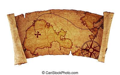 altes , landkarte, schatz