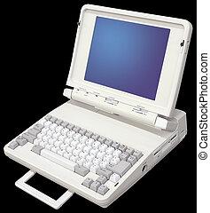 altes , laptop-computer