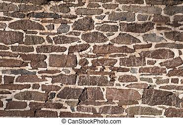 altes , mauerwerk, gebrauchend, wand, unregelmäßig, steine
