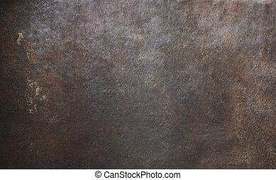 altes , metall, beschaffenheit, rostiges , hintergrund, oder