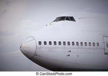 altes , motorflugzeug