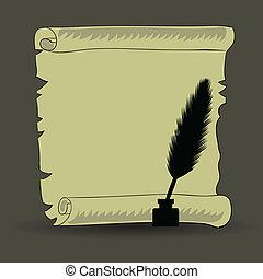 feather papier altes rolle. Black Bedroom Furniture Sets. Home Design Ideas