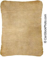 altes , pergamentpapier