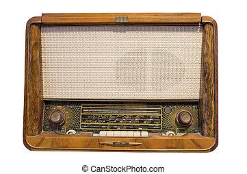 altes , radio, freigestellt, in, whi