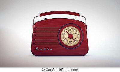 altes , radio, retro, empfänger