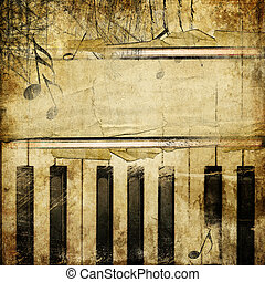 altes , retro, hintergrund, piano-
