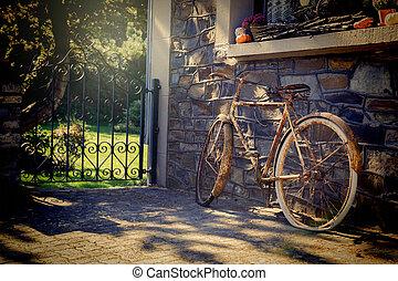 altes , rostiges , fahrrad