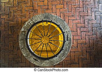 altes , stein, brunnen, an, orava, hofburg, mit, ducats