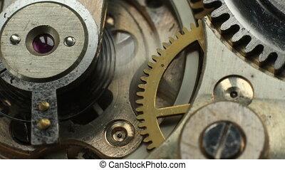 altes , uhr, macr, mechanismus, mechanisch