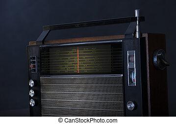 altes , und, dreckige , radio