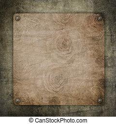 altes , weinlese, papier, auf, textured, hintergrund