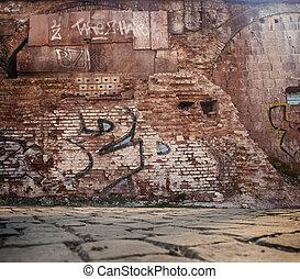 altes , ziegelmauer