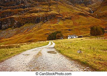 altiplanos, escócia, glencoe, reino unido, escocês