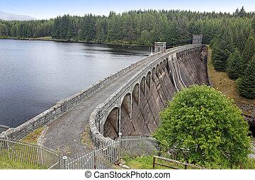 altiplanos, laggan, loch, escócia, represa