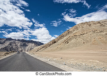 altitudine alta, strada, in, montagne