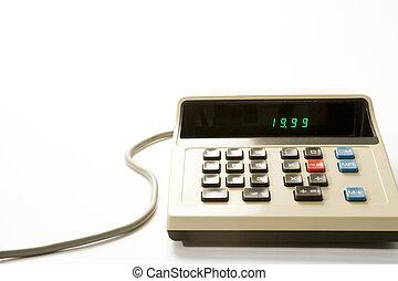 altmodisch, taschenrechner