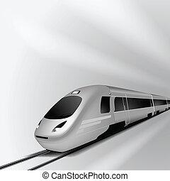 alto, 1, trem, modernos, velocidade