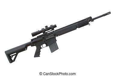 alto, accionado, rifle
