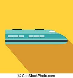 alto, apartamento, trem, velocidade, ícone