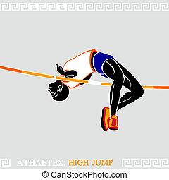 alto, atleta, puente