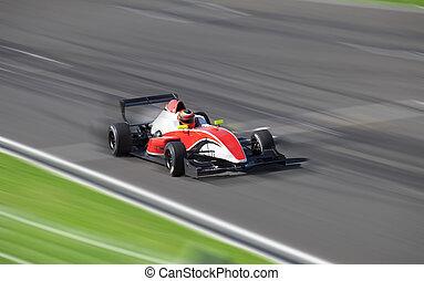 alto, bolide, velocidade, circuito, dirigindo