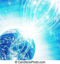 alto, código binário, tecnologia