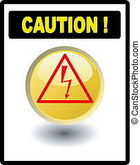 alto, cautela, -, voltagem