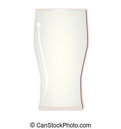 alto, cerveza, vacío, vidrio