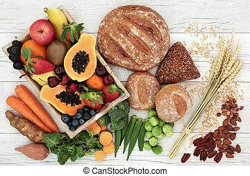 alto, cibo, fibra, salute