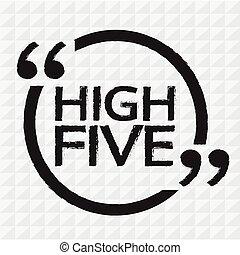 alto cinque, disegno, illustrazione