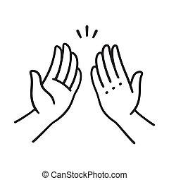 alto cinque, mani