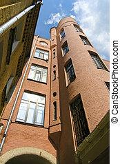 alto, ciudad, moscú, constructivism, casas