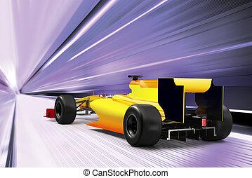 alto, coche, deporte, velocidad, camino