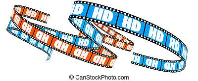 alto, definição, película