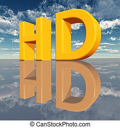 alto, definizione, -, hd